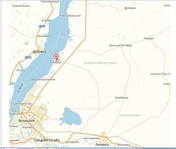Карта Рахинского сельского поселения